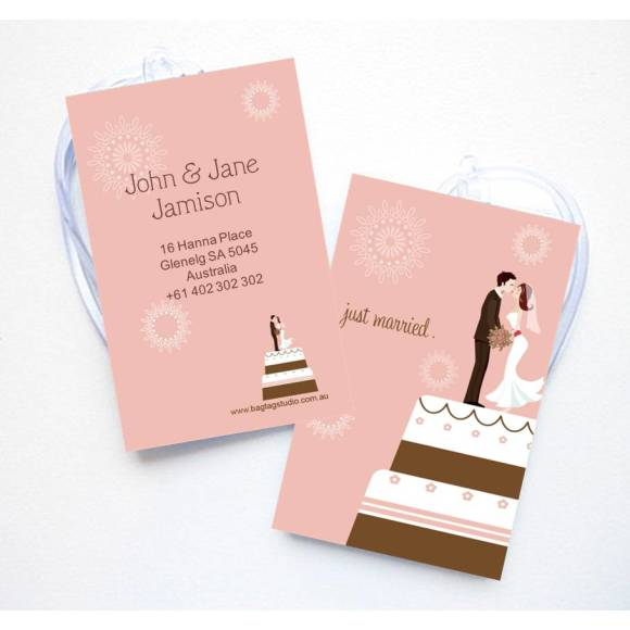 Wedding Cake luggage Tag