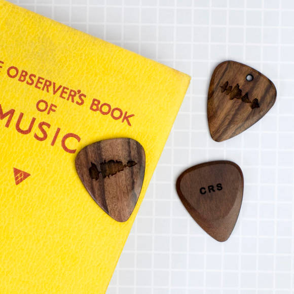 Wooden Sound Wave Plectrum