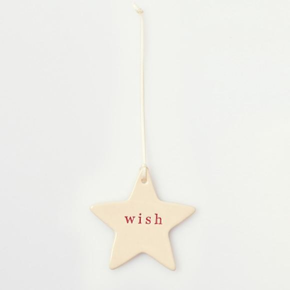 Paper Boat Press Ceramic Christmas Decoration Star
