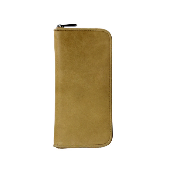 lyon zip wallet honey