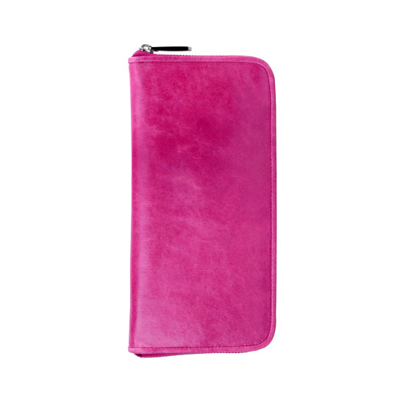 lyon zip wallet pomegranate
