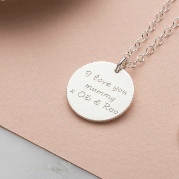 Personalise the reverse with a message of your choice