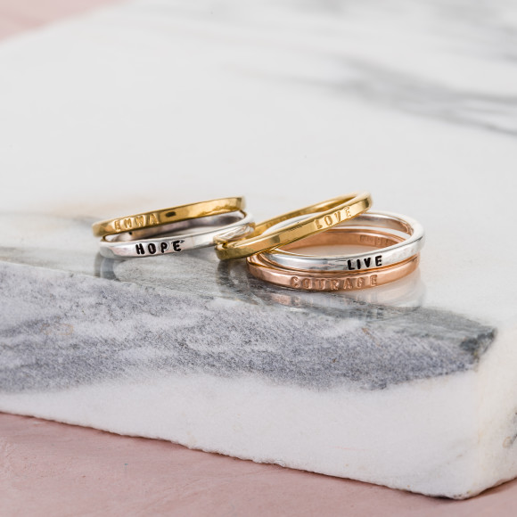 Personalised Sterling Silver Stacker Rings - stack them, collect them