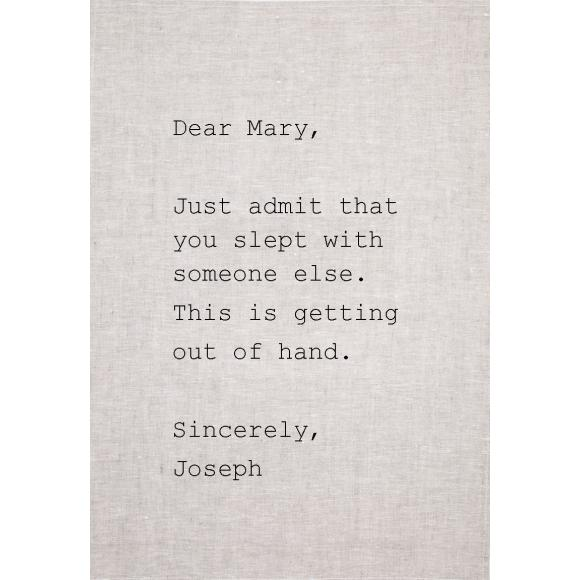 Mary tea towel