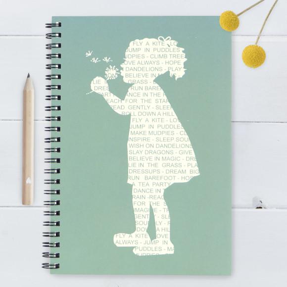 Dandelion Silhouette Notebook