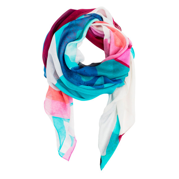 Abstract Silk Scarf