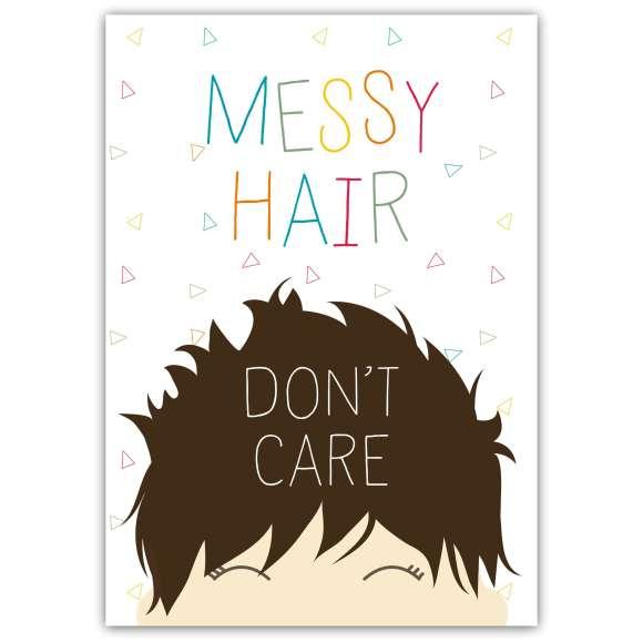 Messy Hair Print