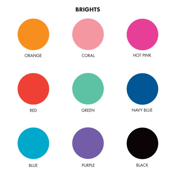 Brights Colour Chart