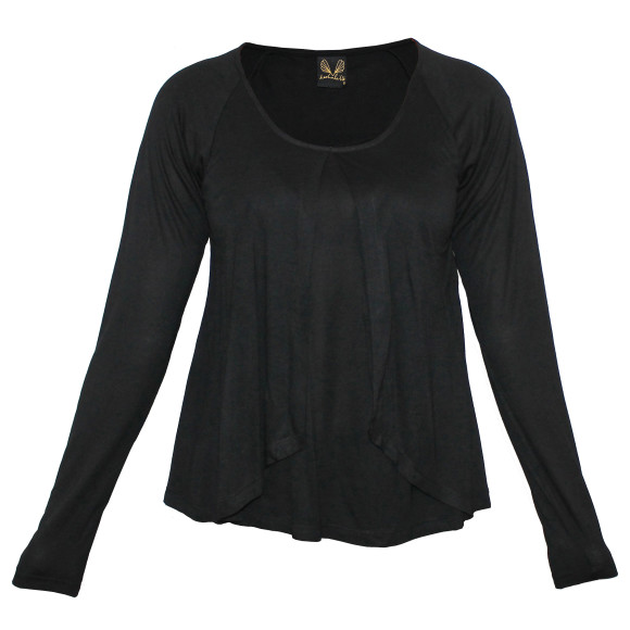Snowflake Top Black