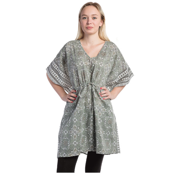 Grey cotton kaftan