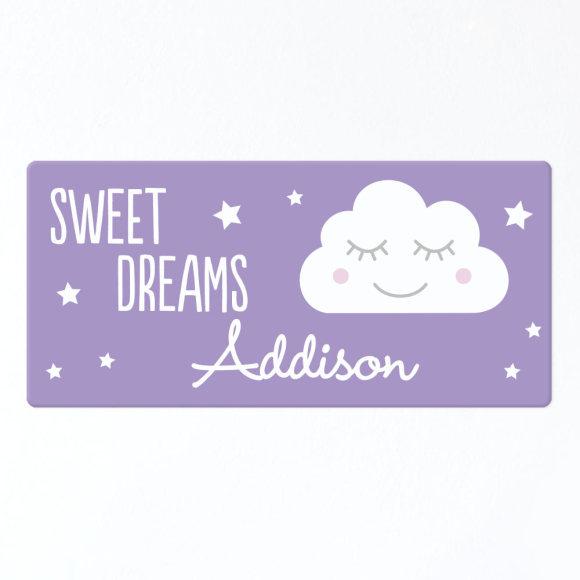 Sweet Dreams Personalised Door Sign