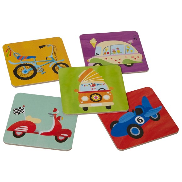cars trucks bikes memory match