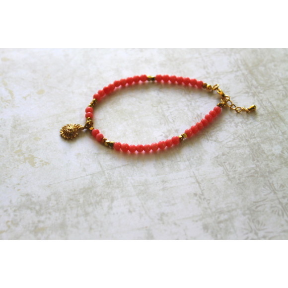 Pink coral stone