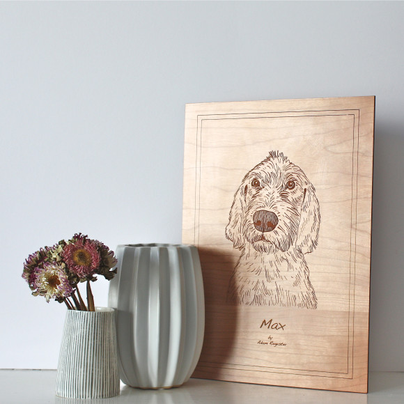 Dog portrait freestanding