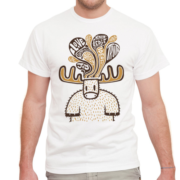 Men's Musings of the Moose White Tee