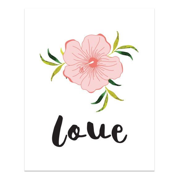 Flowers with Love text