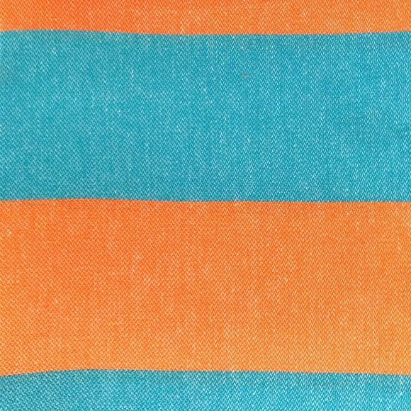 orange and turqoise