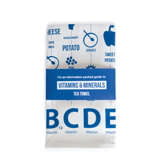 Vitamin Guide Tea Towel packaging
