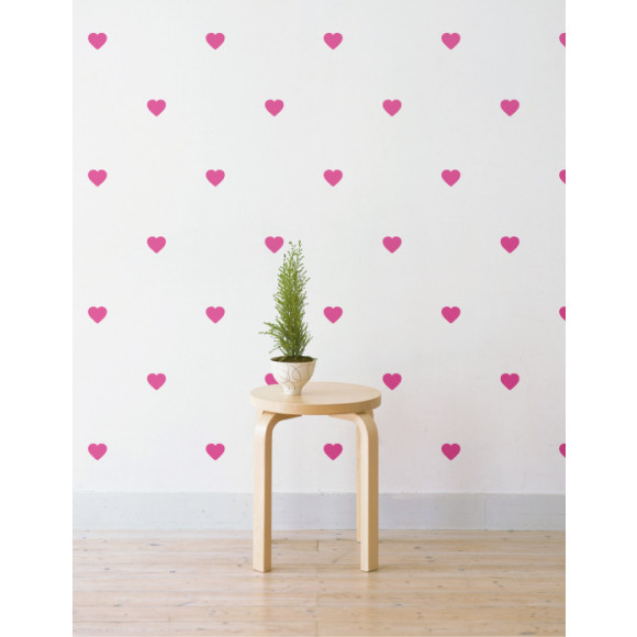 Pink Hearts Decals