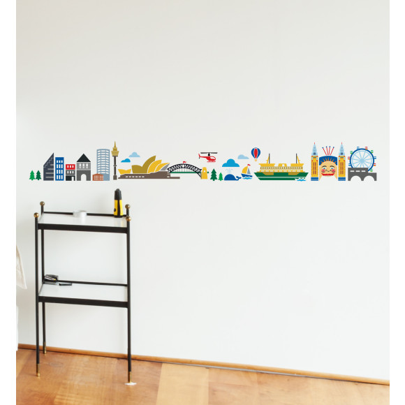 Sydney Cartoon Skyline by Little Studio