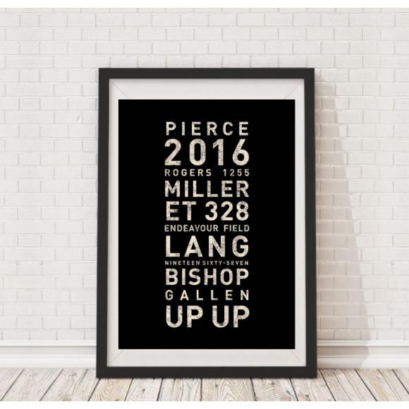 Cronulla 2016 Tramscroll framed