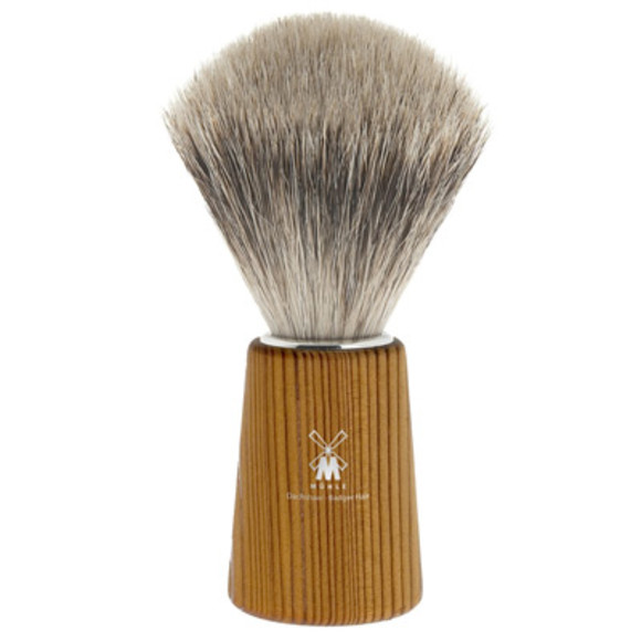 Pine wood shaving brush