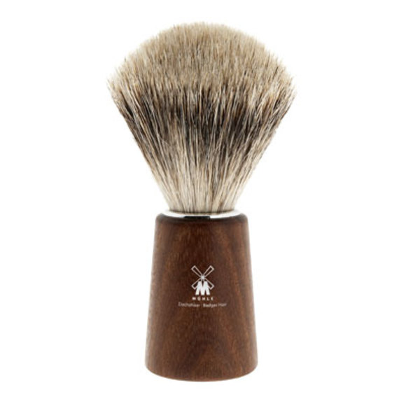Acacia handle shaving brush