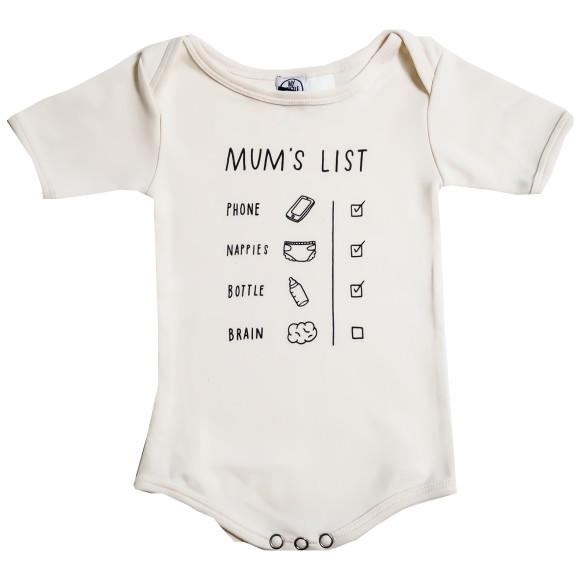 Mum's list onesie