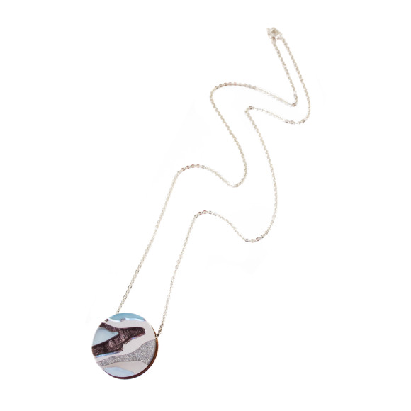 Marble II Necklace - Pastel Blue