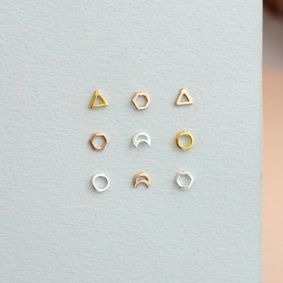 Choose from our triangle, hexagon, moon or circle designs