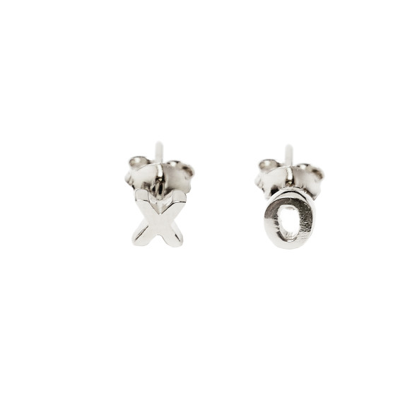 xo stud earrings sterling silver