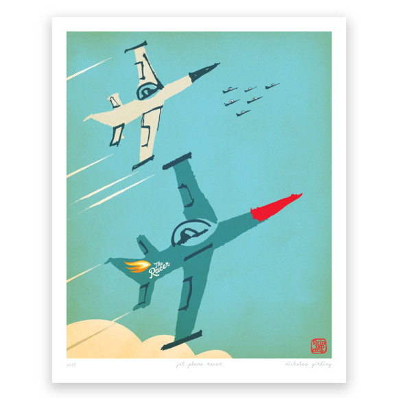 Racer jet plane