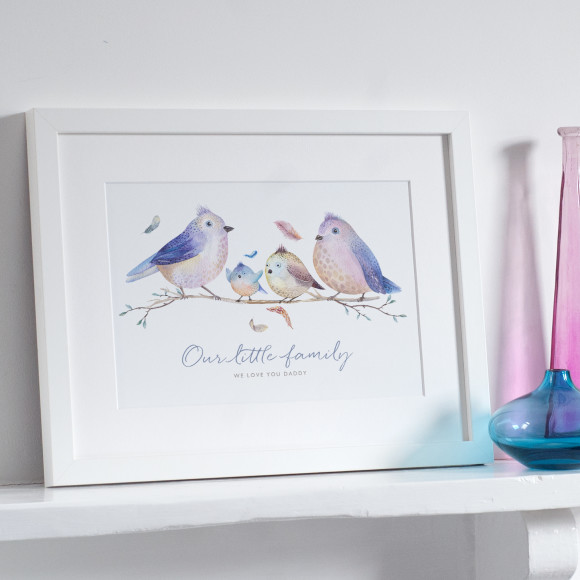 Personalised Bird Family Print by The Drifting Bear Co.