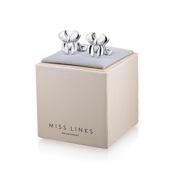 Alexandra Sterling Silver Cufflinks in box