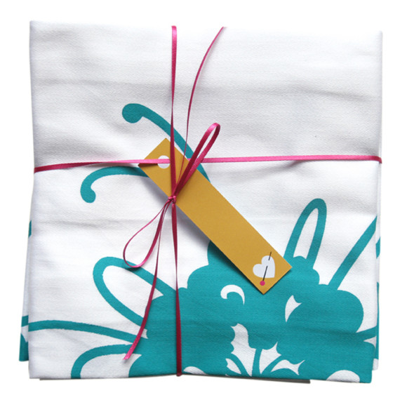 Teal napkin set