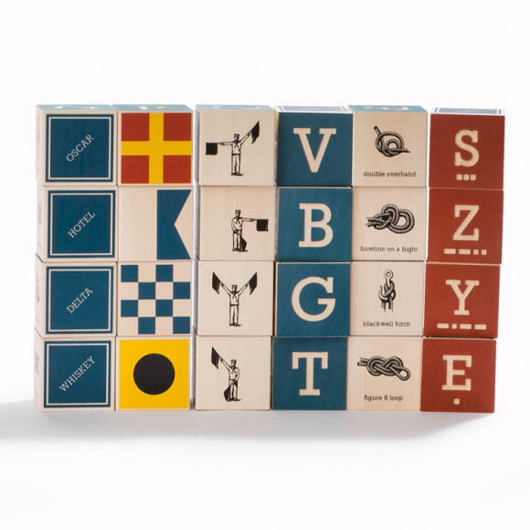nautical abc blocks