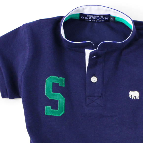 Navy Polo Detail