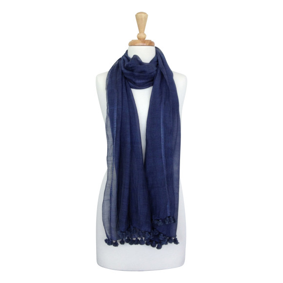 Khadi scarf in navy
