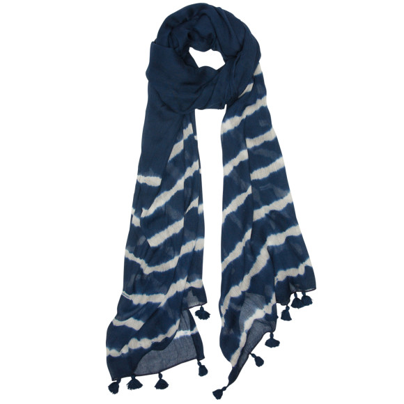 High tide navy scarf