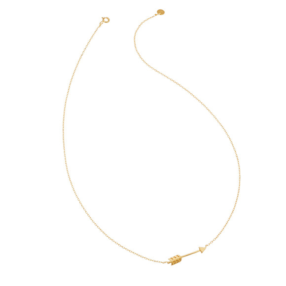 Arrow necklace gold