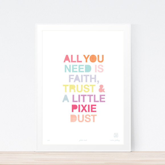 Pixie Dust Art Print Framed
