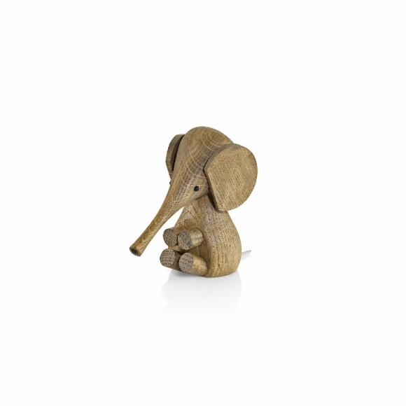 Smoked Oak Wooden Elephant