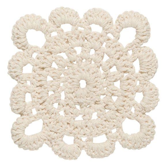 Crochet Coasters Natural