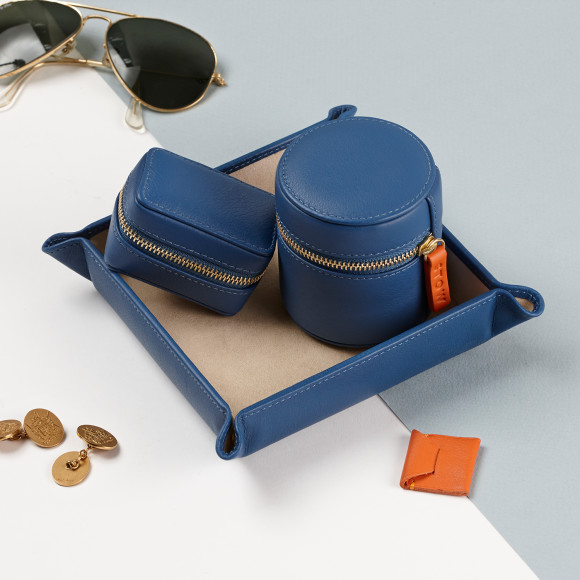 Mens Leather Travel Gift Set