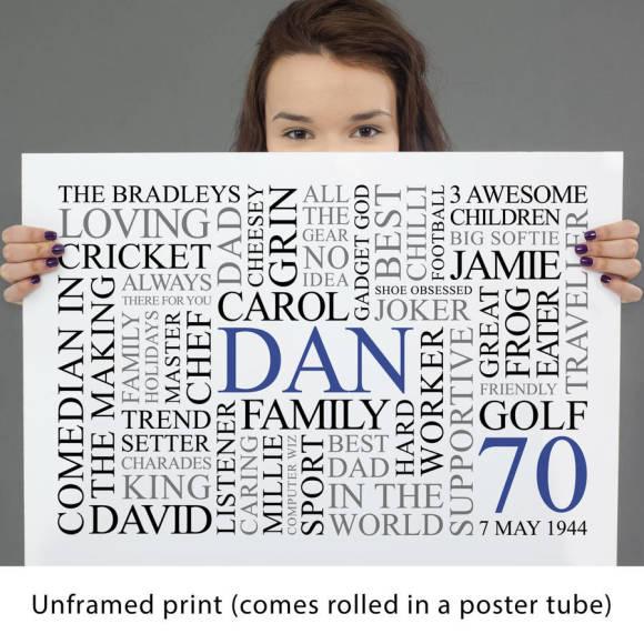 white unframed print