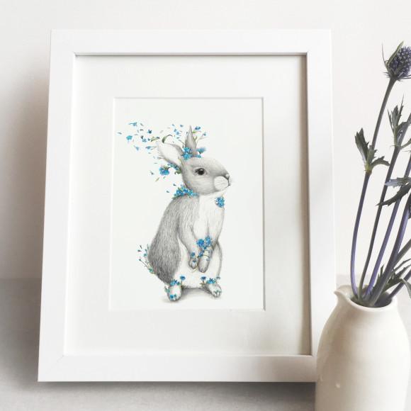 bunny print kids room
