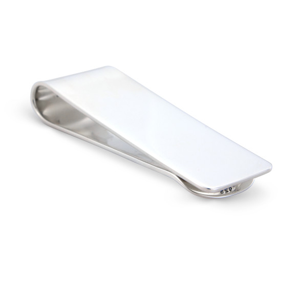 Solid Silver Money Clip