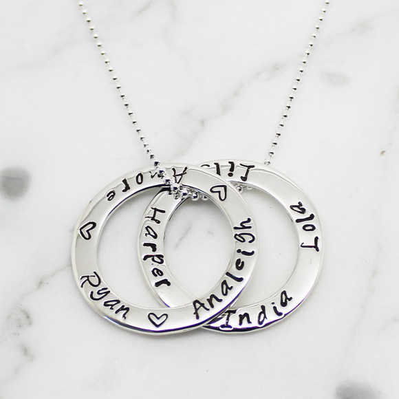 Double Circle of Love Necklace