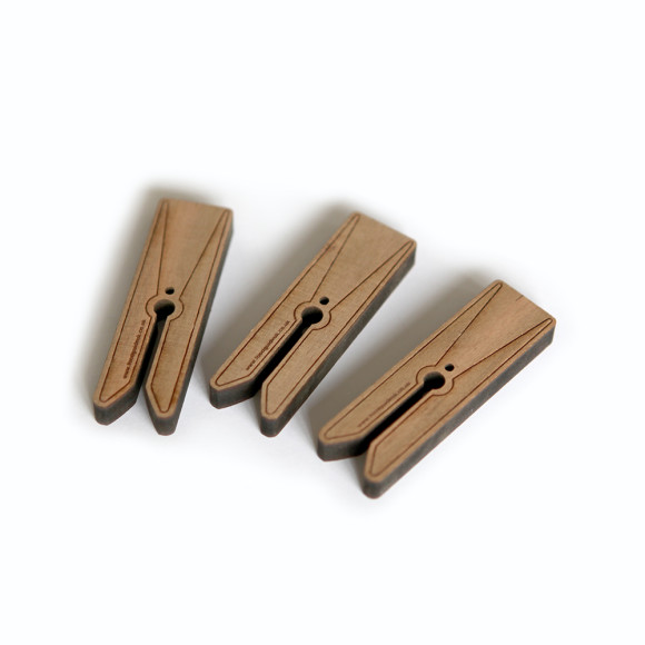Wooden storage pegs