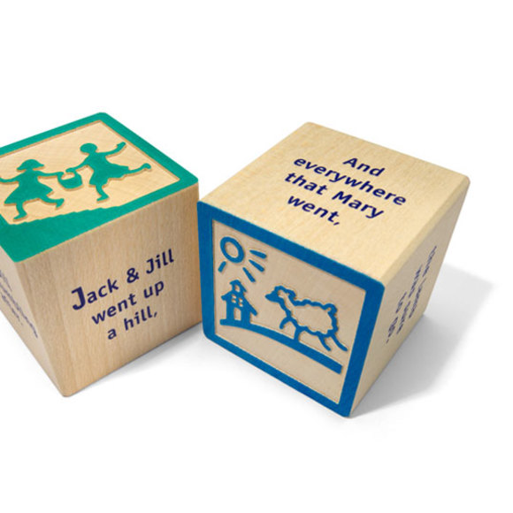 Uncle Goose Nursery Rhyme 28 Wooden Block Set
